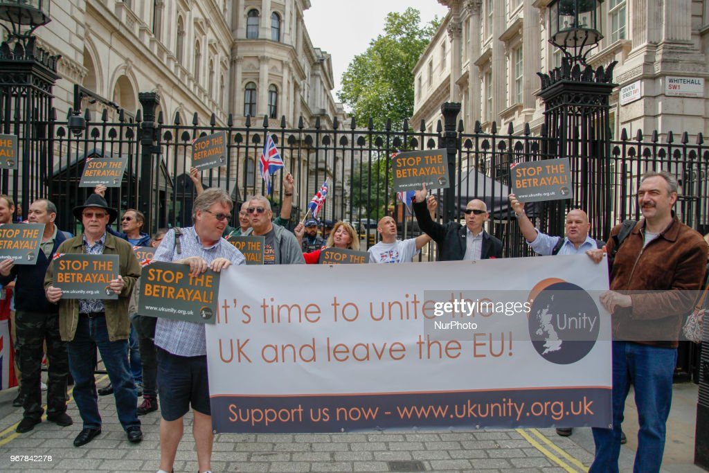 Brexit Supporters call for the Immediate Implementation of Article 30 outside Downing Street in London, United Kingdom, on June 5, 2018.