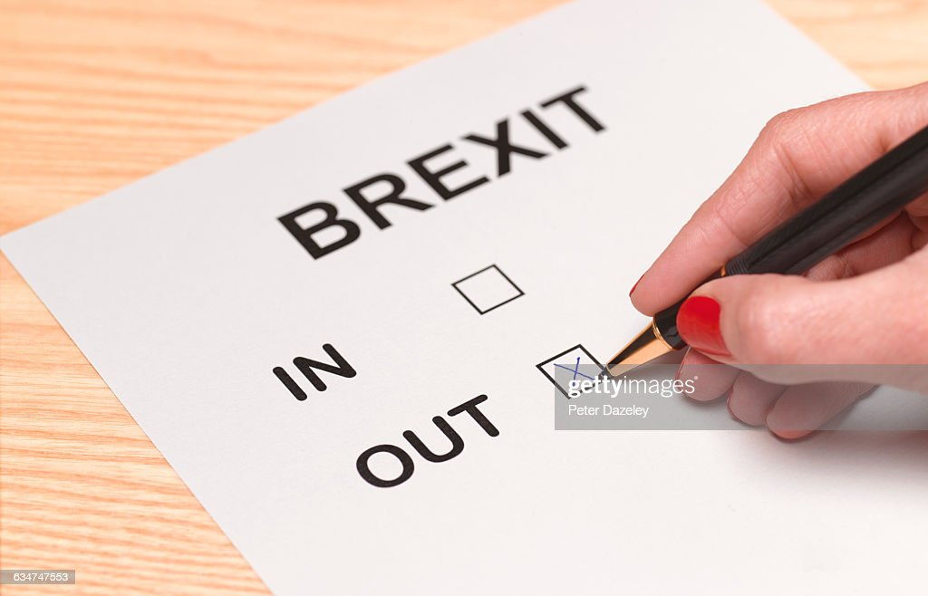Brexit vote out : Stock Photo