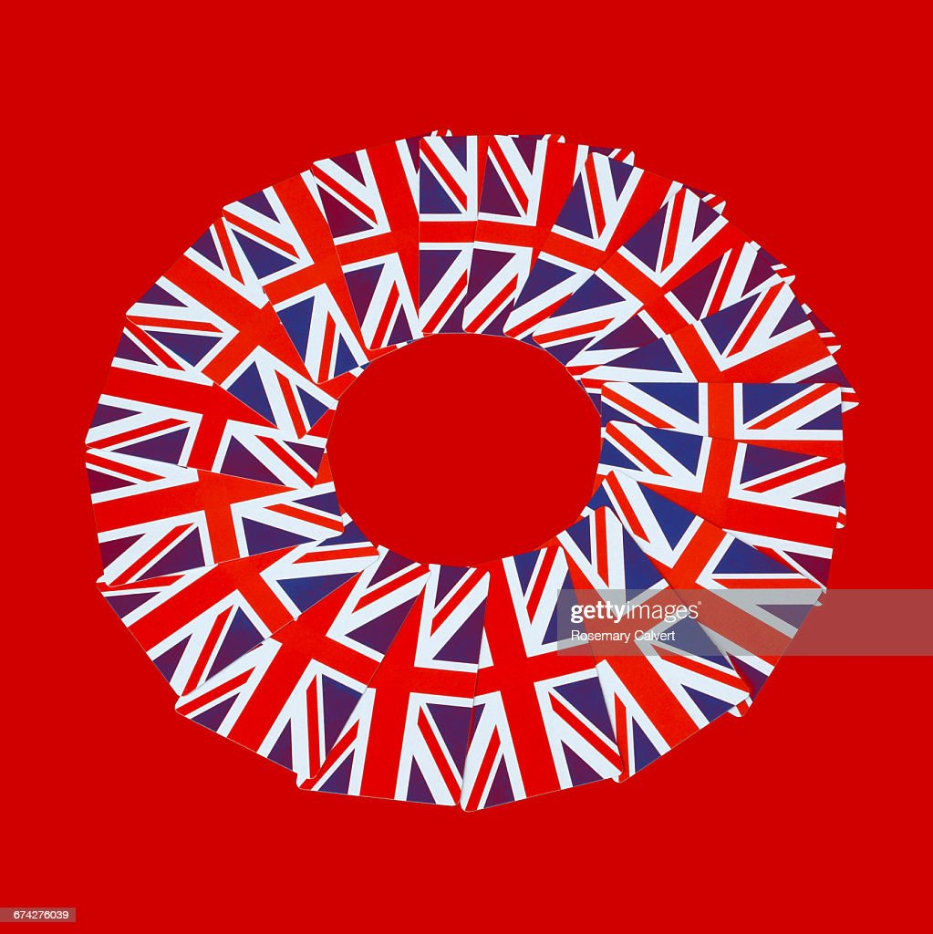 Brexit wheel in motion on red : Stock Photo