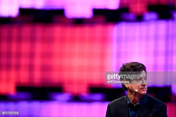 Breyer Capital's founder and chief executive officer Jim Breyer listens to a question during an interview at the 2017 Web Summit in Lisbon on...