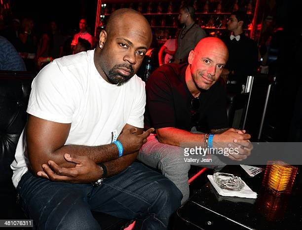 Breyon Prescott and Chop attend Afrojack Private Listening Event for his Debut Album Forget The World at W Hotel on March 27 2014 in Miami Florida