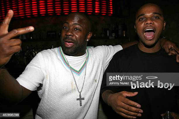 Breyon Prescott and G Mack during The Game and Hurricane 310 Motoring Sneaker Party at Quo in New York City New York United States