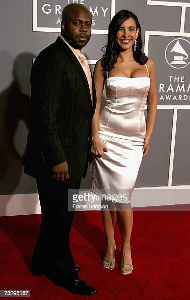 Breyon Prescott and Model Mayra Veronica arrives at the 49th Annual Grammy Awards at the Staples Center on February 11 2007 in Los Angeles California