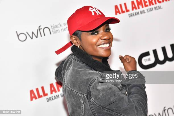 """Bre-Z attends The CW and the Black Women Film Network presents """"All American"""" special screening at Regal Atlantic Station on November 13, 2018 in..."""