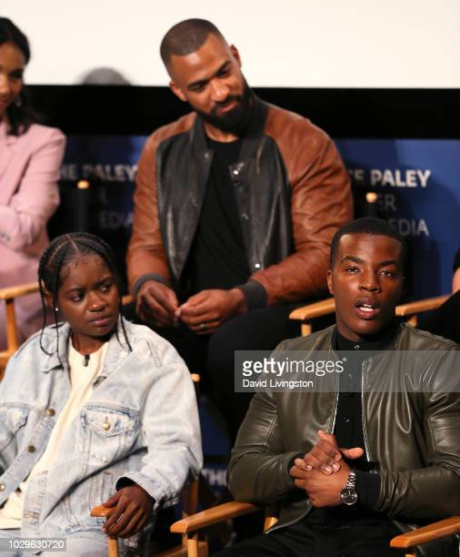 BreZ Spencer Paysinger and Daniel Ezra from All American appear on stage at The Paley Center for Media's 2018 PaleyFest Fall TV Previews The CW at...