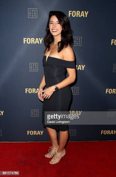 Bri Lobato attends FORAY Collective and The Black Tux Host Holiday Gala on December 12 2017 in Los Angeles California