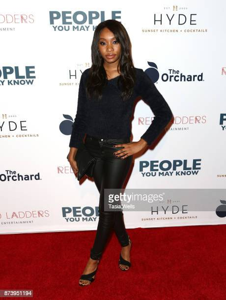 Bri Sche Fair at the premiere of The Orchard's 'People You May Know' at The Grove on November 13 2017 in Los Angeles California