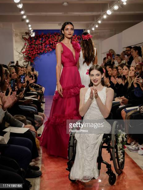 Bri Sclesse and models on the runway finale at the Theia Fall 2020 collection during New York Bridal Week at the Theia Showroom Manhattan