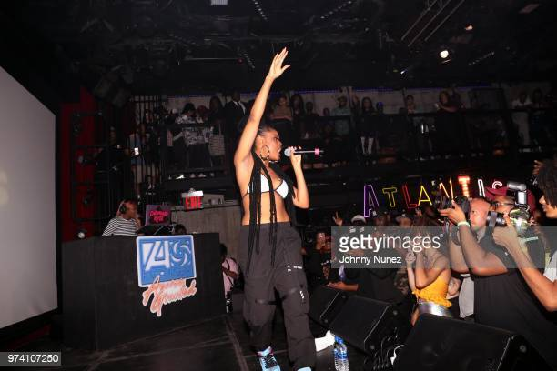 Bri Steves performs at the Atlantic Records Access Granted Showcase on June 13 2018 in New York City