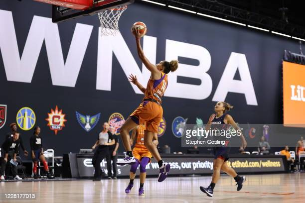 Bria Hartley of the Phoenix Mercury shoots the ball against the Washington Mystics on August 23, 2020 at the Feld Entertainment Center in Palmetto,...
