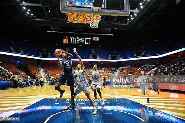 Bria Holmes of the Atlanta Dream shoots the ball against the San Antonio Stars in a WNBA preseason game on May 4 2016 at the Mohegan Sun Arena in...
