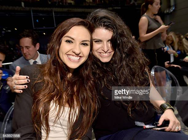 Bria Michelle Kam and Chrissy Emily Chambers of BriaAndChrissy attend as Beautycon Media curates the first digital content creator town hall with...