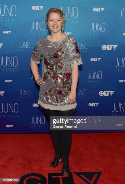 Bria Skonberg arrives at the 2017 Juno Awards at Canadian Tire Centre on April 2 2017 in Ottawa Canada