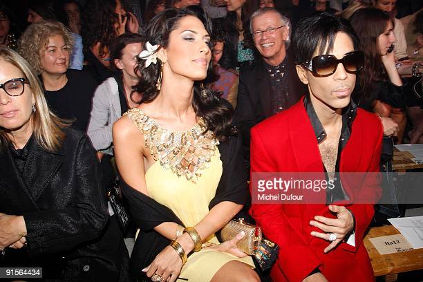 Bria Valente and Prince attend John Galliano Pret a Porter show as part of the Paris Womenswear Fashion Week Spring/Summer 2010 at Halle Freyssinet...