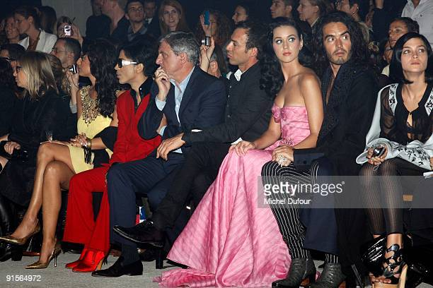 Bria Valente Prince Sidney Toledano Alexis Roche Katy Perry Russell Brand and Leigh Lezark attends John Galliano Pret a Porter show as part of the...