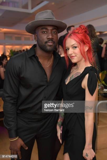 Bria Vinaite and guest attend The Hollywood Reporter 6th Annual Nominees Night at CUT on February 5 2018 in Beverly Hills California