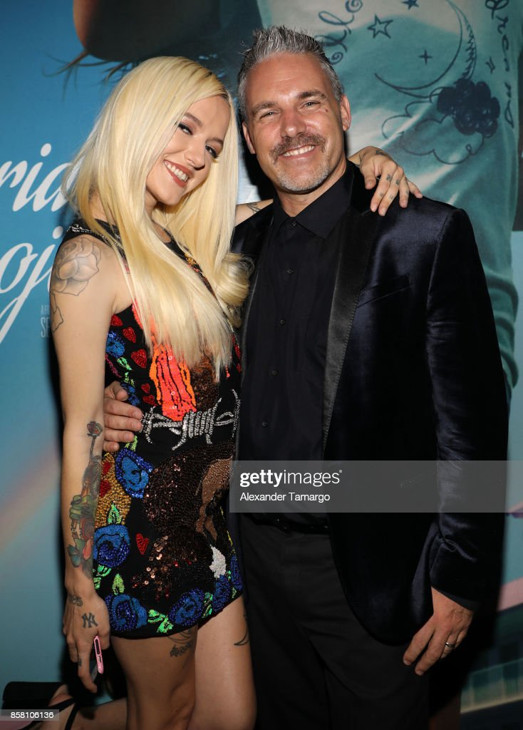 Bria Vinaite and Jaie Laplante are seen at the Tower Theater during 'THE FLORIDA PROJECT' Miami Premiere on October 5, 2017 in Miami, Florida.