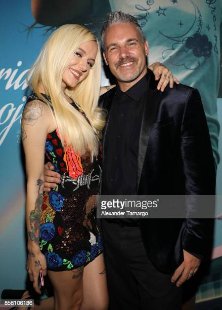 Bria Vinaite and Jaie Laplante are seen at the Tower Theater during 'THE FLORIDA PROJECT' Miami Premiere on October 5 2017 in Miami Florida