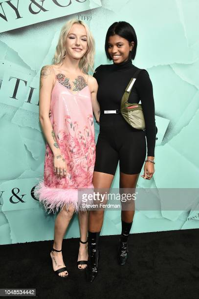 Bria Vinaite and Renell Medrano attend the 2018 Tiffany Co Blue Book Gala on October 9 2018 in New York City
