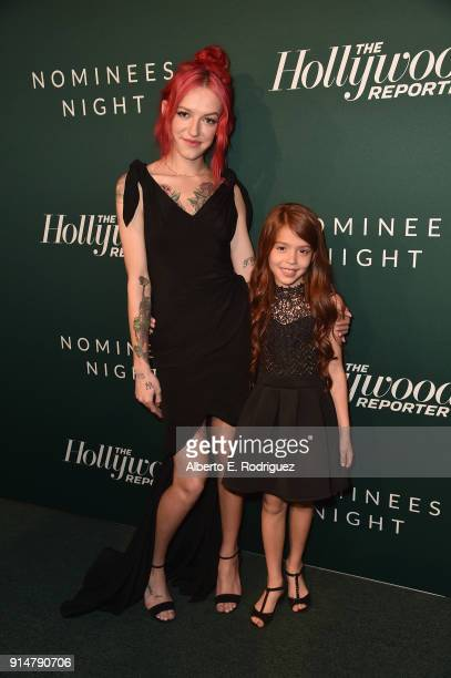 Bria Vinaite and Valeria Cotto attend the Hollywood Reporter's 6th Annual Nominees Night at CUT on February 5 2018 in Beverly Hills California