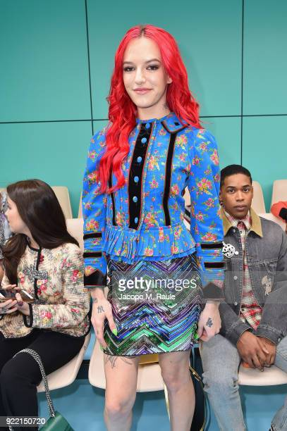 Bria Vinaite attends the Gucci show during Milan Fashion Week Fall/Winter 2018/19 on February 21 2018 in Milan Italy