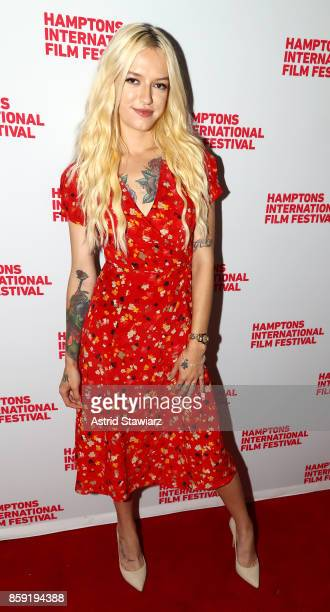 Bria Vinaite attends the photo call for 'The Florida Project' during Hamptons International Film Festival 2017 Day Four on October 8 2017 in East...