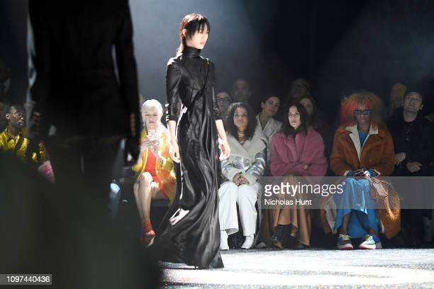 Bria Vinaite Helena Howard Aymeline Valade and Junglepussy attend the Sies Marjan FW'19 Runway Show at SIR Stage on February 10 2019 in New York City