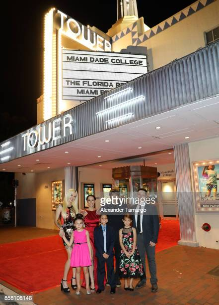 Bria Vinaite Mela Murder Sean Baker Chris Bergoch Brooklynn Prince Christopher Rivera and Valeria Cotto are seen at the Tower Theater during 'THE...