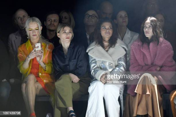Bria Vinaite Sofia Hublitz Helena Howard and Aymeline Valade attend the Sies Marjan FW'19 Runway Show at SIR Stage on February 10 2019 in New York...