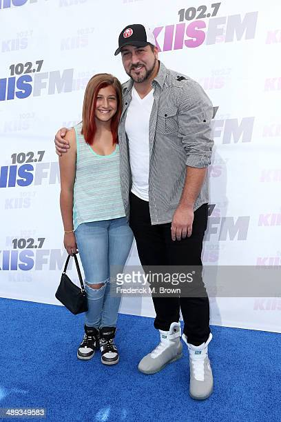 Briahna Joely Fatone and singer Joey Fatone attend 1027 KIIS FM's 2014 Wango Tango at StubHub Center on May 10 2014 in Los Angeles California