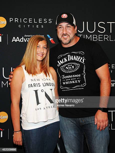 Briahna Joely Fatone and singer Joey Fatone attend Justin Timberlake's special performance at Hammerstein Ballroom on July 10 2014 in New York City