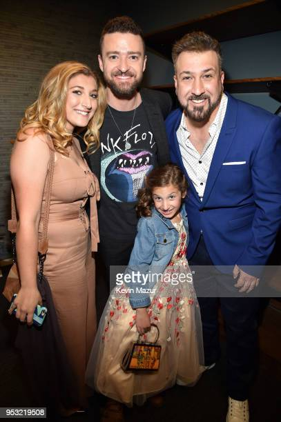 Briahna Joely Fatone Justin Timberlake Kloey Alexandra Fatone and Joey Fatone attend the ceremony honoring NSYNC with a star on the Hollywood Walk of...