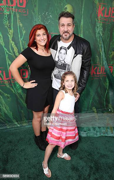Briahna Joely Fatone Kloey Alexandra Fatone and Joey Fatone attend the premiere of Focus Features' Kubo And The Two Strings at AMC Universal City...