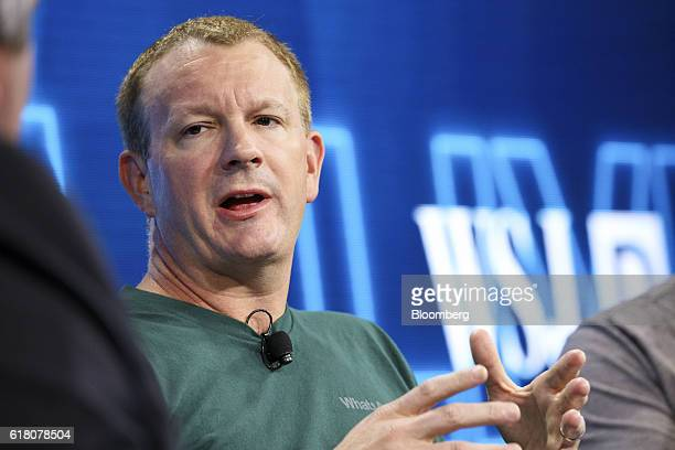 Brian Acton cofounder of WhatsApp Inc speaks during the WSJDLive Global Technology Conference in Laguna Beach California US on Tuesday Oct 25 2016...
