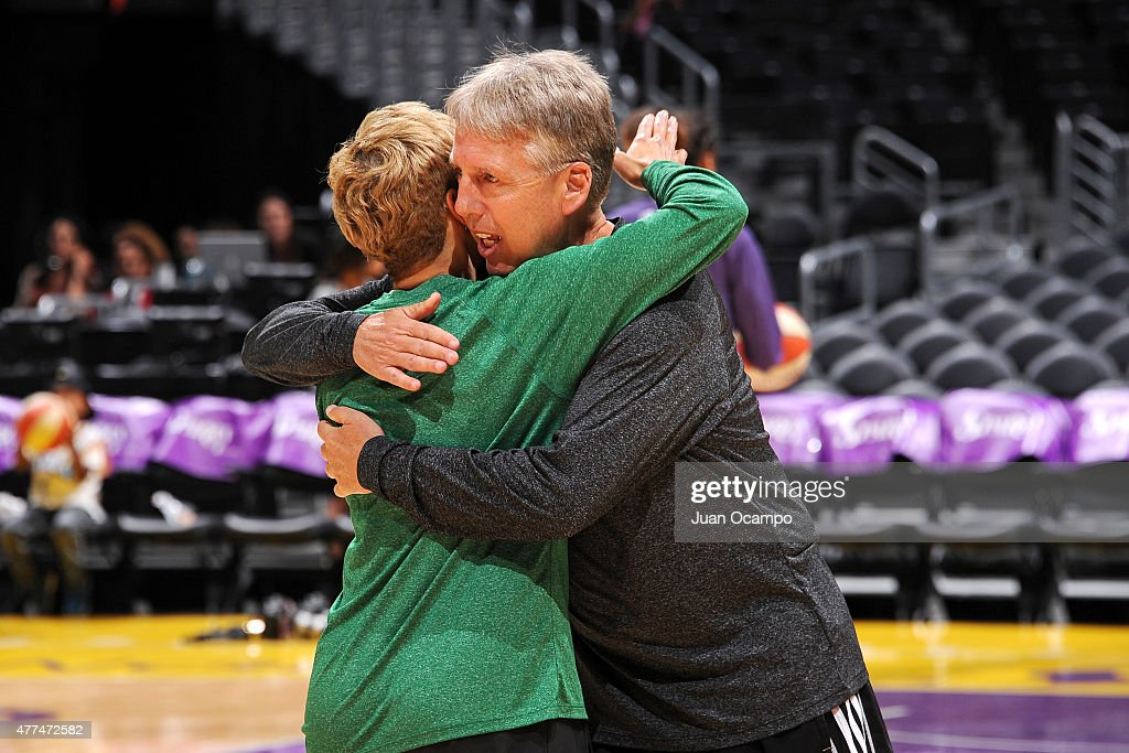 Brian Agler of the Los Angeles Sparks stands on the court before a game against the Minnesota Lynx on June 16, 2015 at Staples Center in Los Angeles, California.