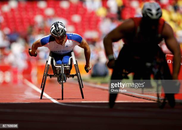 Brian Alldis of Great Britain competes in the Men's 800mT54 heat Athletics event at the National Stadium during day five of the 2008 Paralympic Games...