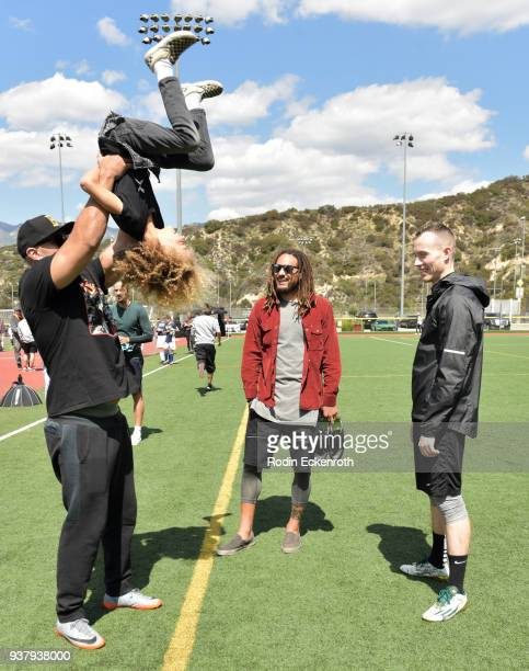 Brian Amlani, Jermaine Jones, and DJ Skee at Viva Con Agua's 1st annual Waterweek LA celebrity soccer match at Glendale Sports Complex on March 25,...