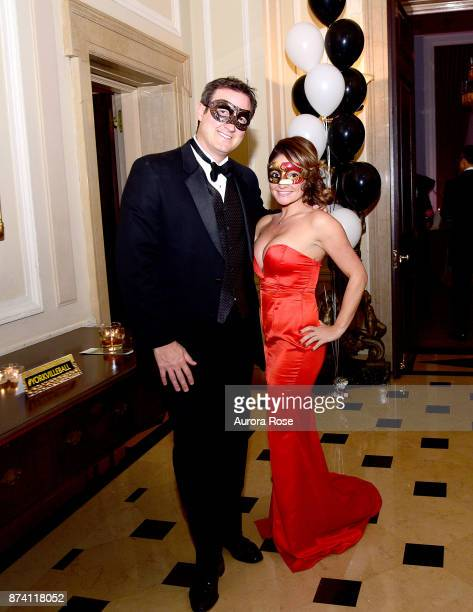 Brian Anderson and Alison Pereira attend Search and Care's Annual Yorkville Ball at Private Club on November 10 2017 in New York City