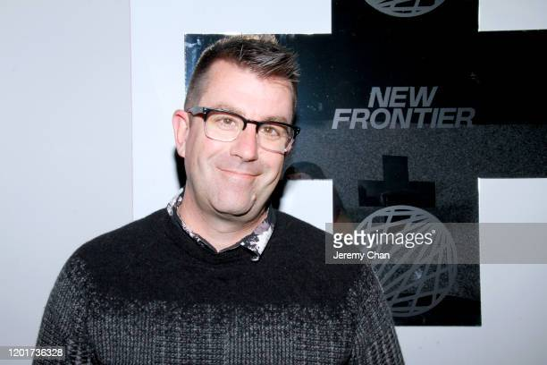 """Brian Andrews of """"Hominidae"""" attends the New Frontier Press Preview during the 2020 Sundance Film Festival at New Frontier Central on January 24,..."""