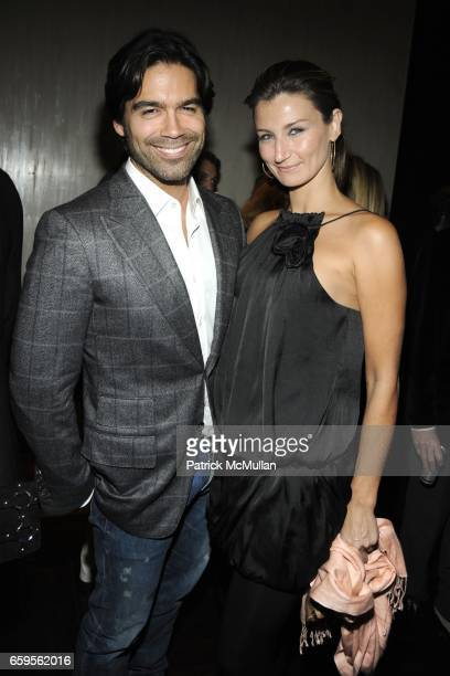 Brian Atwood and Bianca Barnhill attend Gwyneth Paltrow and VBH's Bruce Hoeksema Host Cocktail Party for Valentino The Last Emperor at VBH on October...