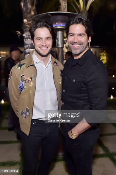 Brian Atwood and Jake Deutsch attend a private dinner to celebrate the One Year Anniversary of Beboe hosted by Lake Bell, Lisa Eisner, Assia...