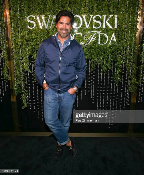 Brian Atwood attends the 2018 CFDA Fashion Awards' Swarovski Award For Emerging Talent Nominee Cocktail Party at DUMBO House on May 16 2018 in New...