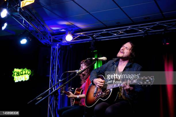 Brian Aubert of Silversun Pickups performs at the Radio 1045 iHeart Performance Theater on June 7 2012 in Bala Cynwyd Pennsylvania