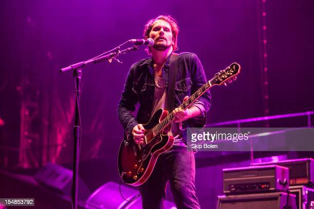 Brian Aubert of Silversun Pickups performs during the 2012 Voodoo Experience at City Park on October 27 2012 in New Orleans Louisiana