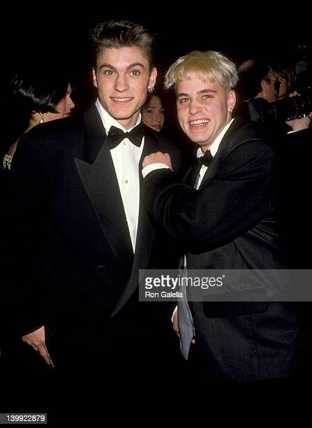 Brian Ausitn Green and Corey Haim at the 50th Annual Golden Globe Awards Beverly Hilton Hotel Beverly Hills