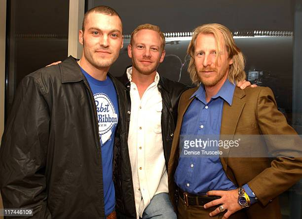 Brian Austin Green Ian Ziering and Lew Temple during Johnnie Walker Blue Label Hosts Gentlemans Suite for 2004 Billboard Music Awards at The Bellagio...