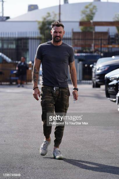 Brian Austin Green is seen on October 6, 2021 in Los Angeles.