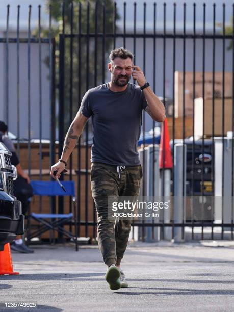 Brian Austin Green is seen outside 'Dancing With The Stars' Rehearsal Studio on October 06, 2021 in Los Angeles, California.