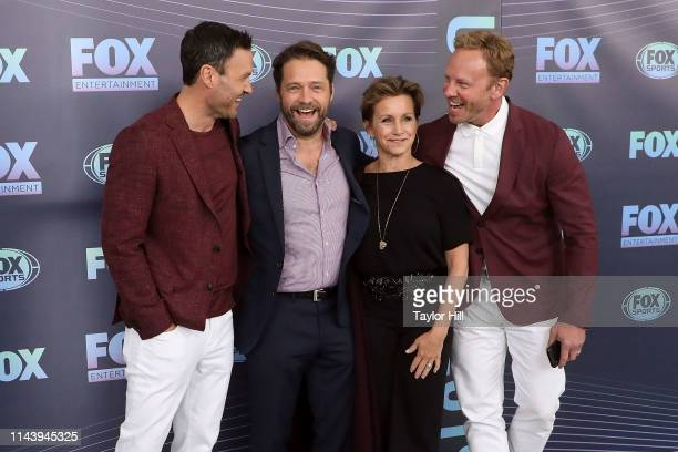 Brian Austin Green Jason Priestley Gabrielle Carteris and Ian Ziering attend the 2019 Fox Upfront at Wollman Rink Central Park on May 13 2019 in New...