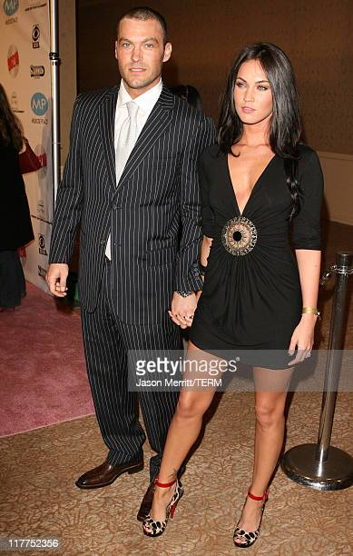 Brian Austin Greene and guest during Beverly Hills 90210 and Melrose Place DVD Launch Party Pink Carpet at Beverly Hilton in Beverly Hills California...